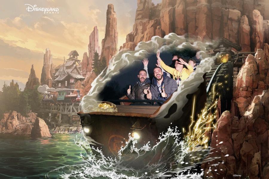 Foto en la atracción Big Thunder Mountain de Disneyland Paris