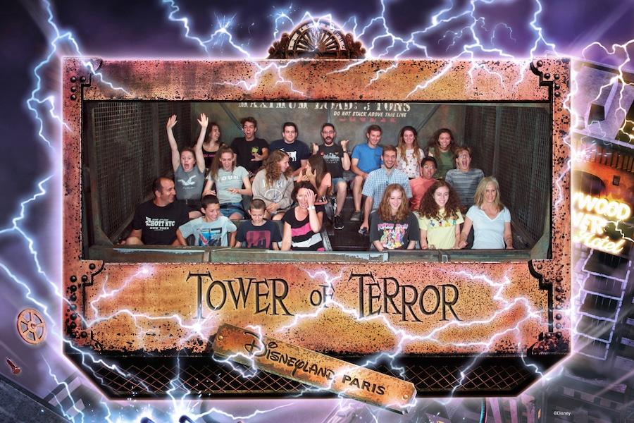 Foto en la atracción Tower of Terror de Disneyland Paris
