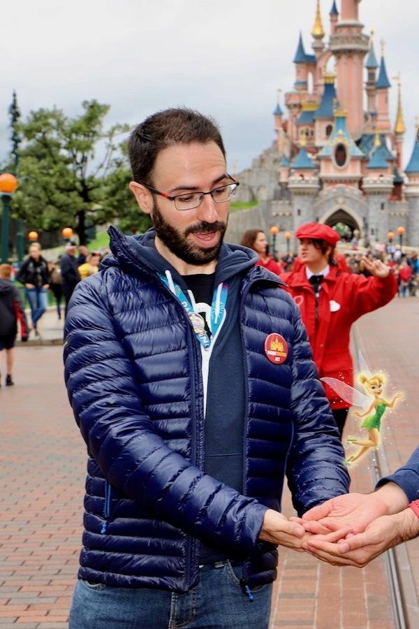 MagicShot con Campanilla en Disneyland Paris con PhotoPass