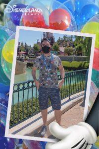 MagicShot con fondo de globos en Disneyland Paris