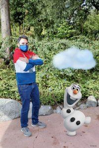 MagicShot de Olaf en Disneyland Paris