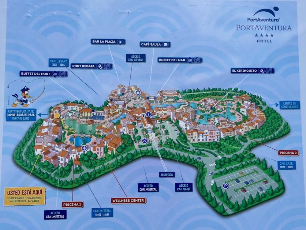 Plano Mapa del Hotel PortAventura en PortAventura World
