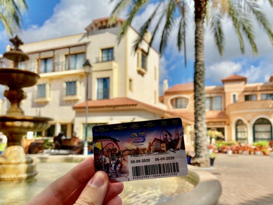 Tarjeta de acceso a la habitación y a los parques del Hotel PortAventura de PortAventura World