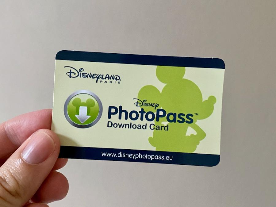 Tarjeta de descarga de PhotoPass de Disneyland Paris