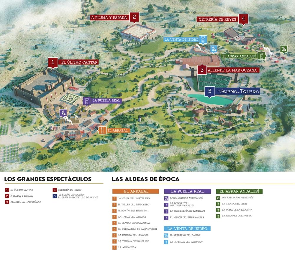 Mapa Puy du Fou España 2021