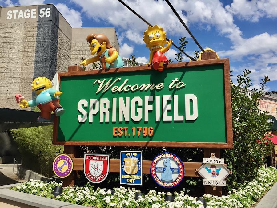 Area de Los Simpson en Universal Studios Hollywood