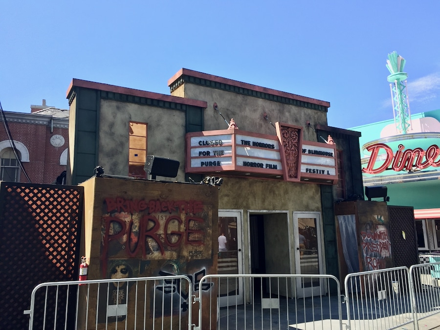 Decoración de las Halloween Horror Nights en Universal Studios Hollywood