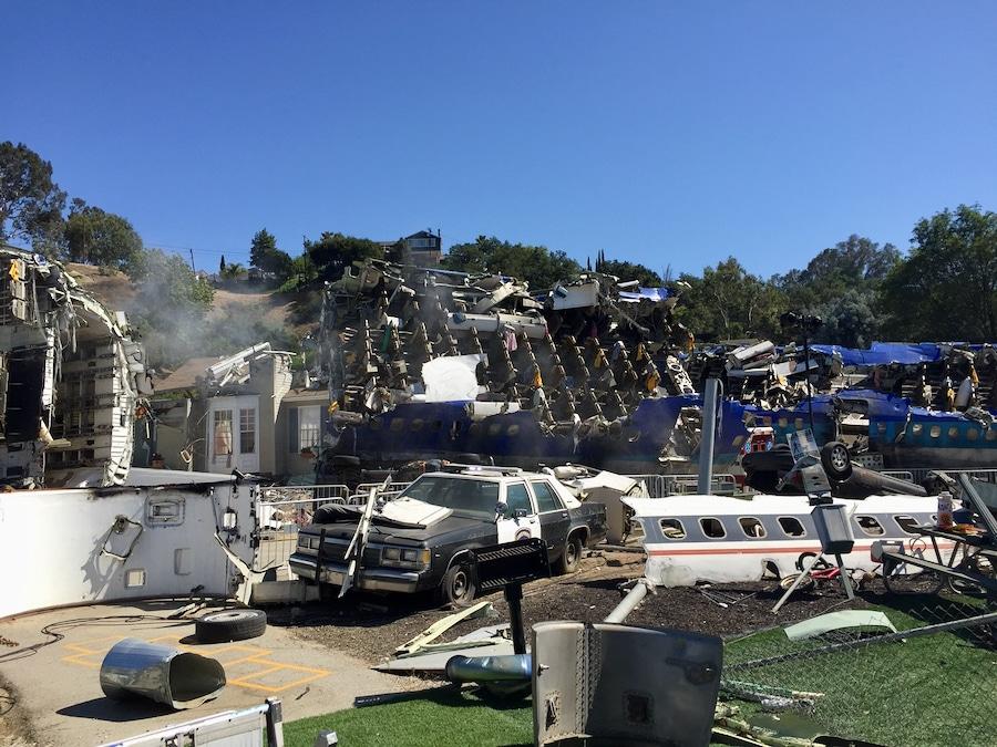 Escenario de la Guerra de los Mundos en el Studio Tour en Universal Studios Hollywood