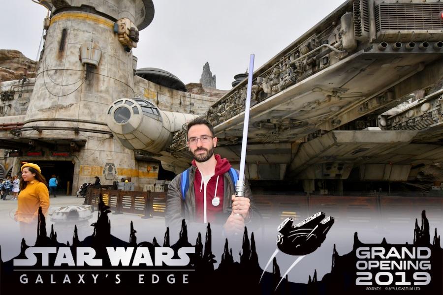Foto de PhotoPass en la inauguración de Star Wars Galaxys Edge en Disneyland California