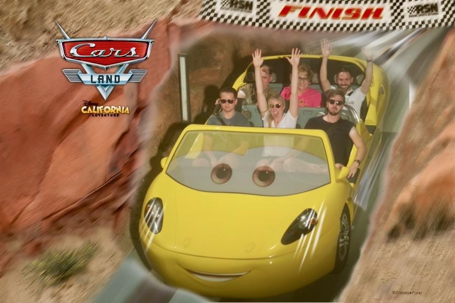 Foto de atracción de PhotoPass en Radiator Springs Racers de Disney California Adventure