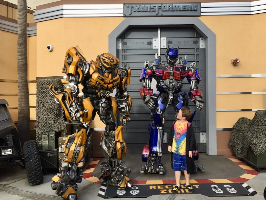 Meet and greet con los Transformers en Universal Studios Hollywood