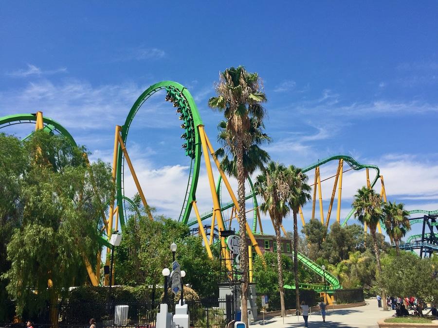 Montaña rusa Riddlers Revenge de Six Flags Magic Mountain