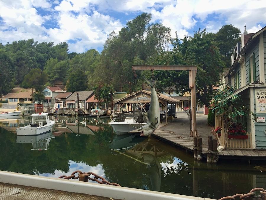 Zona de Amity de Tiburón en el Studio Tour en Universal Studios Hollywood