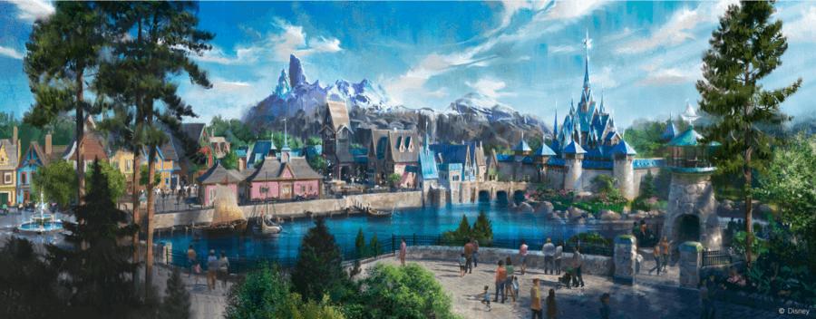 Diseño de la nueva área de Frozen en construcción para Walt Disney Studios en Disneyland Paris
