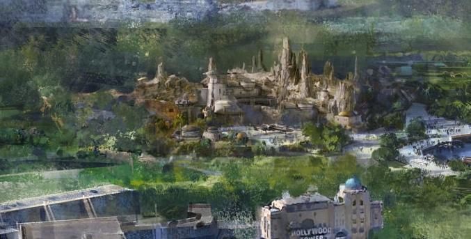 Diseño de la nueva área de Star Wars en Walt Disney Studios de Disneyland Paris