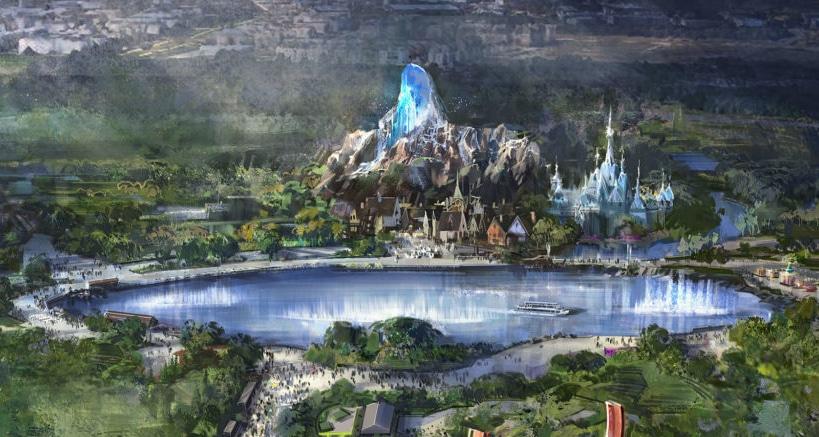 Diseño del nuevo lago y de la nueva zona de Frozen en Walt Disney Studios de Disneyland Paris