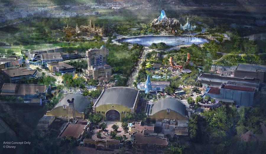 Diseño del proyecto de mejora y expansión del parque Walt Disney Studios en Disneyland Paris