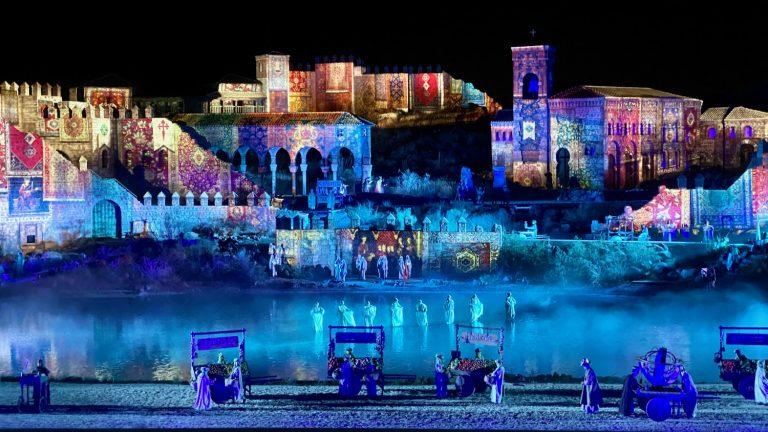 Escena de El Sueño de Toledo, el espectáculo nocturno de Puy du Fou España en Toledo