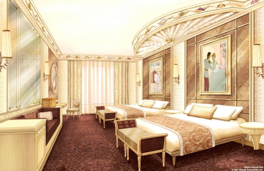 Diseño de las nuevas habitaciones con princesas del Hotel Disneyland de Disneyland Paris