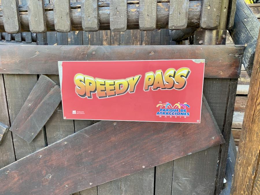 Logo Speedy Pass del Parque de Atracciones de Madrid