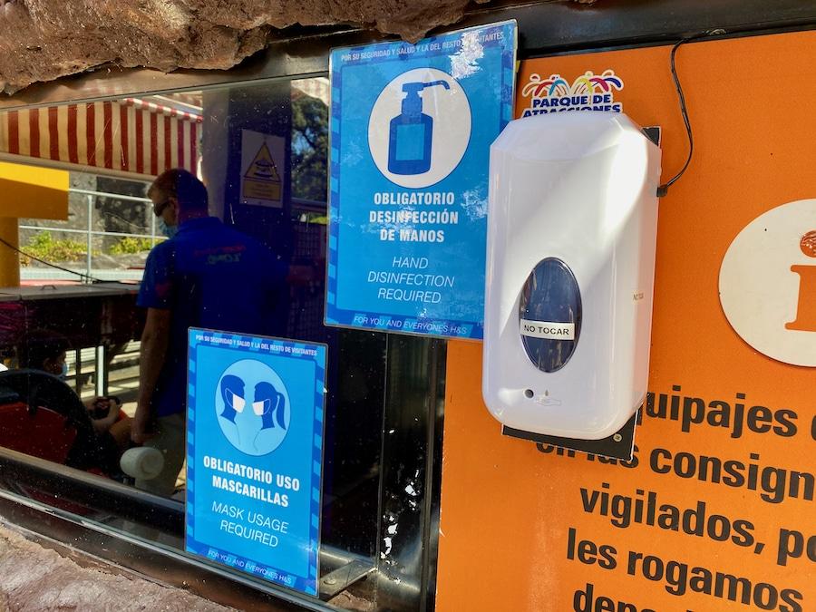 Medidas anti-COVID en el Parque de Atracciones de Madrid