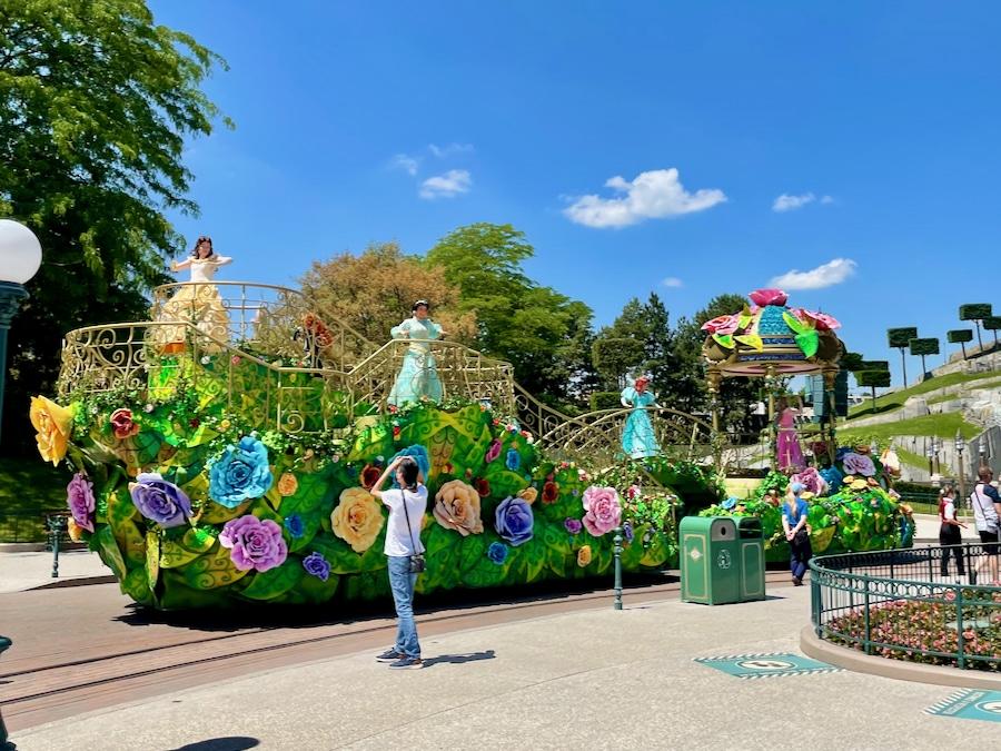 Carroza con las Princesas en Disneyland Paris 2021