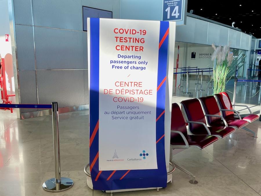 Centro de tests covid del aeropuerto de Charles de Gaulle para viajar a Disneyland Paris