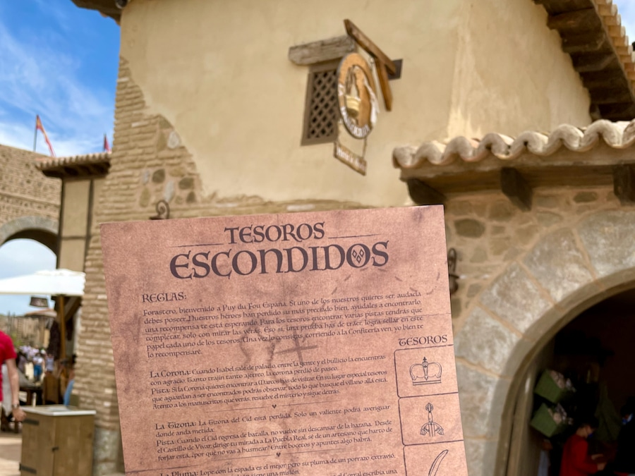Pergamino de los Tesoros Escondidos de Puy du Fou España