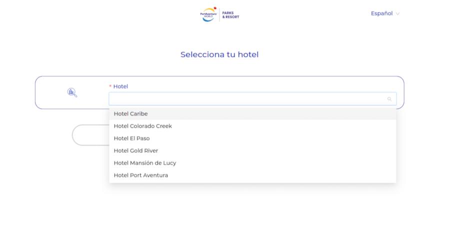 Checkin online en hoteles de PortAventura - paso 2