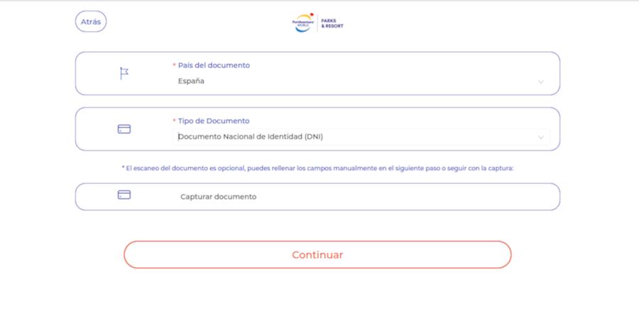 Checkin online en hoteles de PortAventura - paso 5