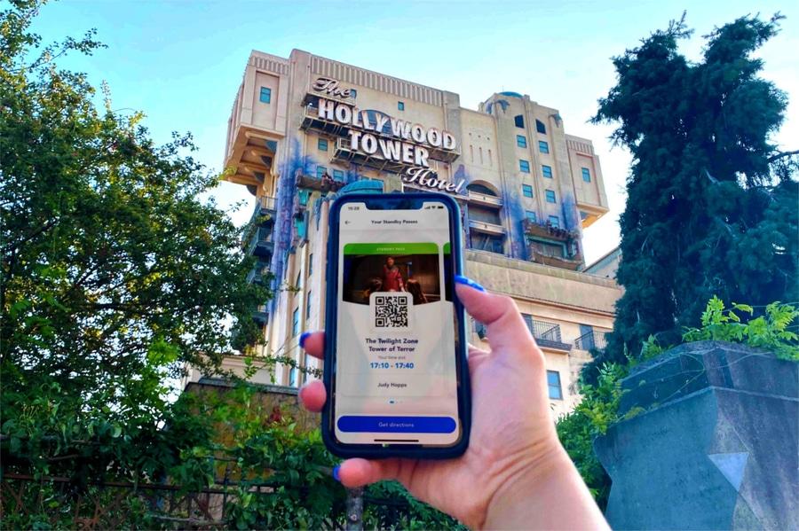 Standby Pass en la app de Disneyland Paris