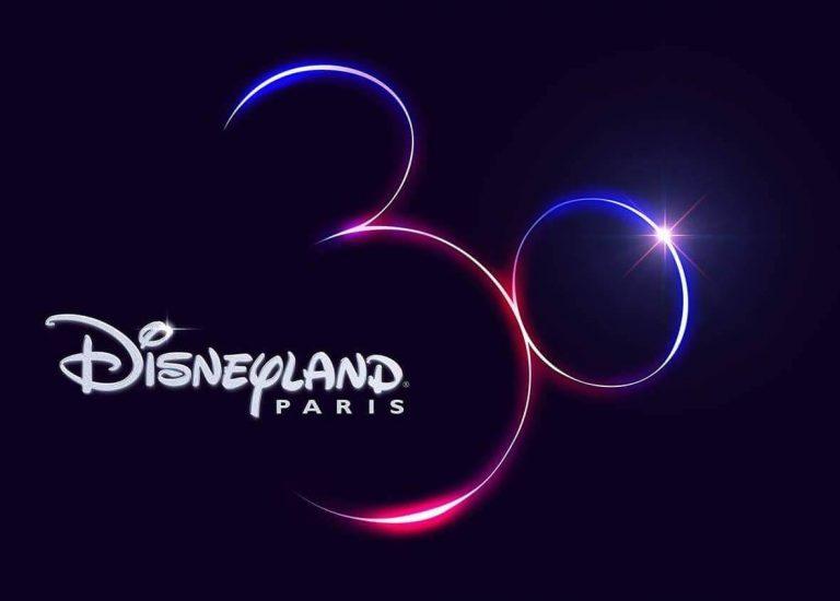Logo del 30 aniversario de Disneyland Paris
